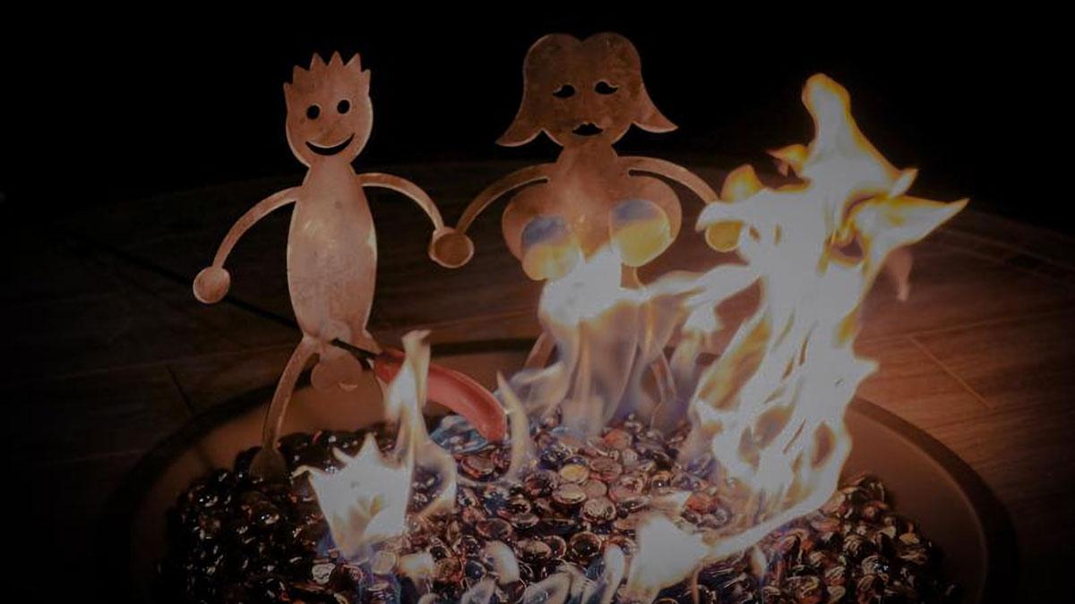Man & Woman Hotdog & Marshmallow Roasters