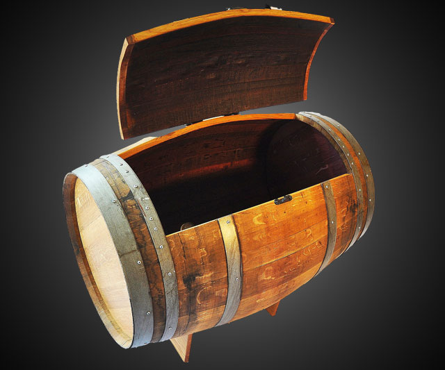 how to turn a wine barrel into a cooler