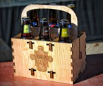 PuzzlePax Collapsible Wood 6-Pack Carriers