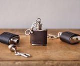 1-oz Leather Keychain Flasks