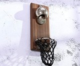 Basketball Bottle Opener with Cap Collector Net