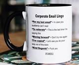 Corporate Email Lingo Mug