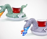 Fire-Breathing Dragon Inflatable Pool Drink Holders