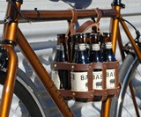 Leather 6-Pack Bike Caddy