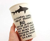 Mature Monday Shark Travel Mug