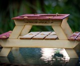Mini Picnic Table Beer Holder or Condiment Rack
