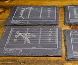 NFL Football Teams' Greatest Plays Slate Coasters