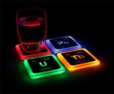 Radioactive Elements Glowing Coasters