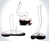 Riedel Crystal Snake Wine Decanters
