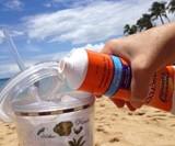 Smuggle Your Booze Sunscreen Flask