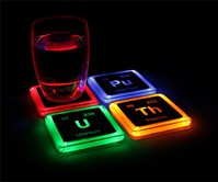 Radioactive Elements Glowing Coasters