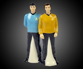 Mr. Spock & Captain Kirk Salt & Pepper Shakers