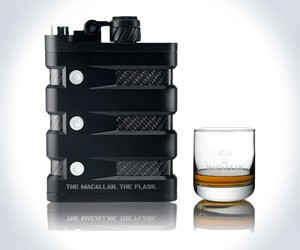 Macallan Scotch Meets Oakley Flask