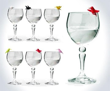 Hummingbird Wine Glass Charms