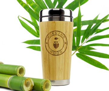 Morning Wood Bamboo Travel Mug