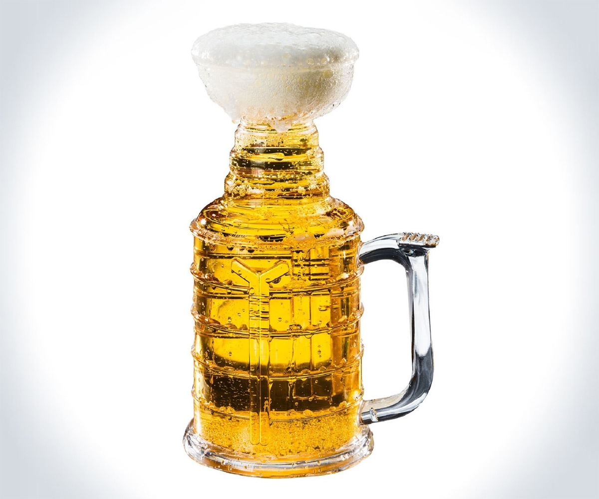 stanley stein hockey beer mug