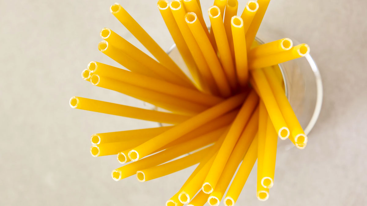 Stroodles Biodegradable Pasta Straws