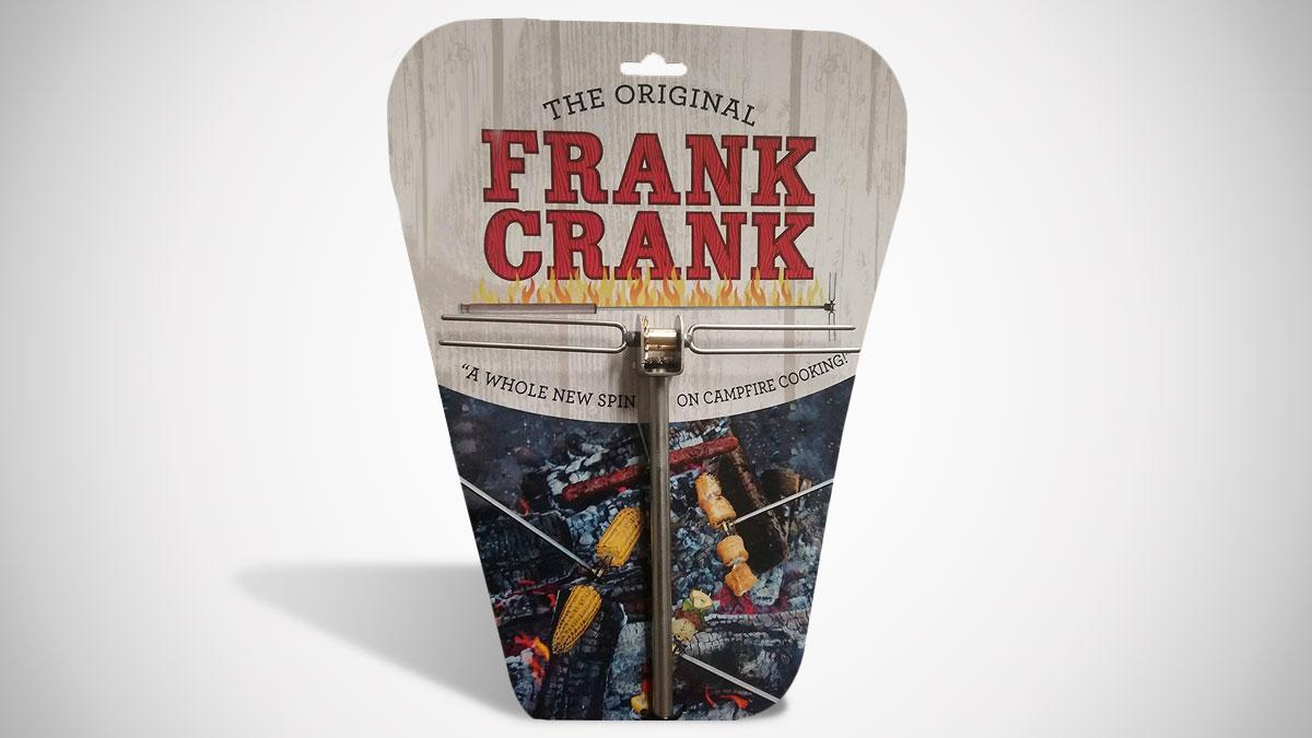 The Frank Crank Campfire Rotisserie Roasting Stick