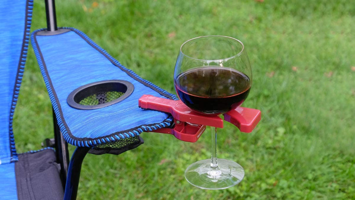 WineGrasp Clip-On Wine Glass Holder