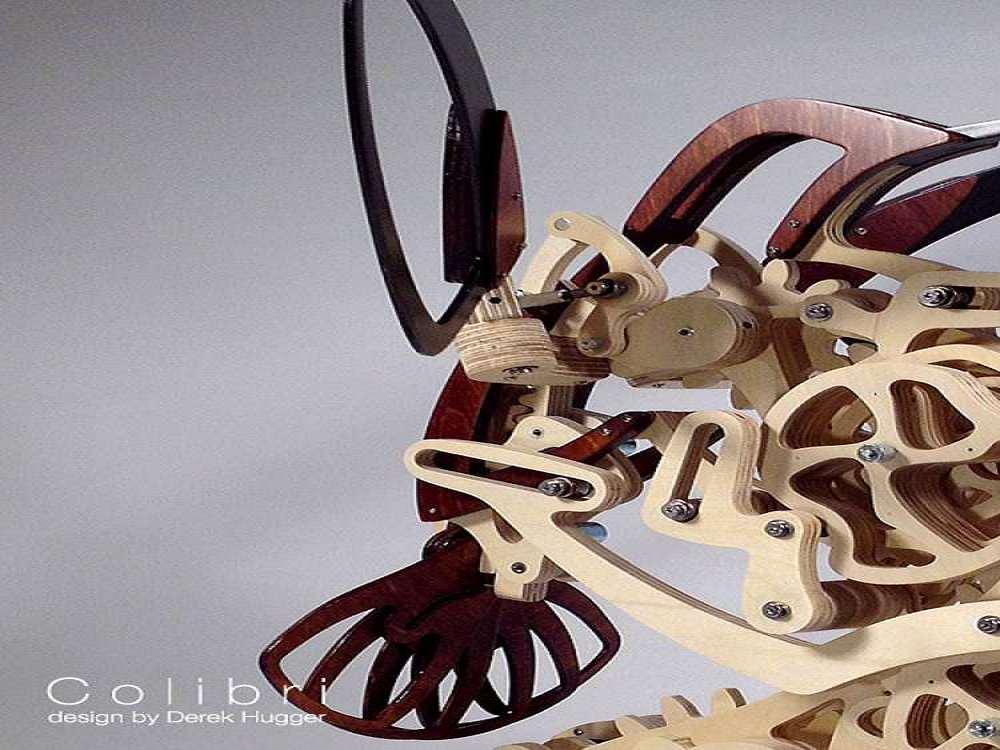 Colibri Mechanized Kinetic Hummingbird Sculpture