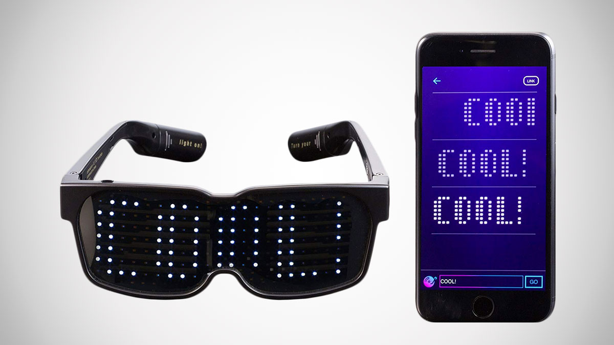 Customizable Bluetooth LED Glasses