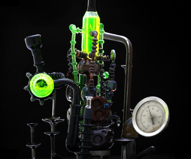Up Glass Bong Uv And Cfl Reactive