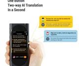 Langogo Pocket AI Translator with Global WiFi Hotspot