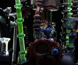 Menagerie of Mechanized Happiness Pipe Closeup