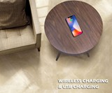 QI Wireless Charging Table with 360 Bluetooth Speaker