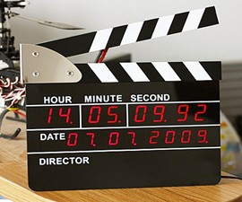 Director's Clapperboard Digital Alarm Clock