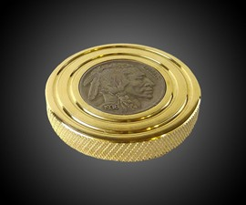 FlatTop Brass Buffalo Nickel Spinning Top