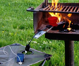 The FlameStower Fire-Powered Device Charger