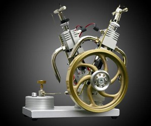 Two-Cylinder V-Twin Gas Powered Engine