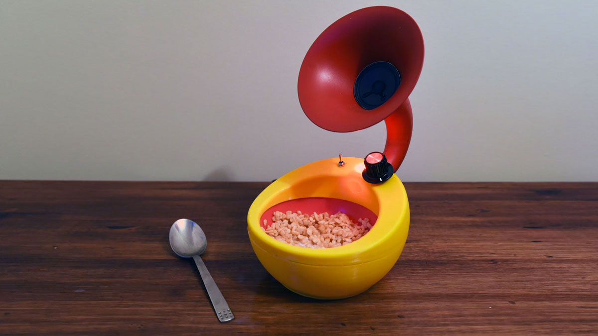 Snap Crack & Pop Amplifier Cereal Bowl | DudeIWantThat.com