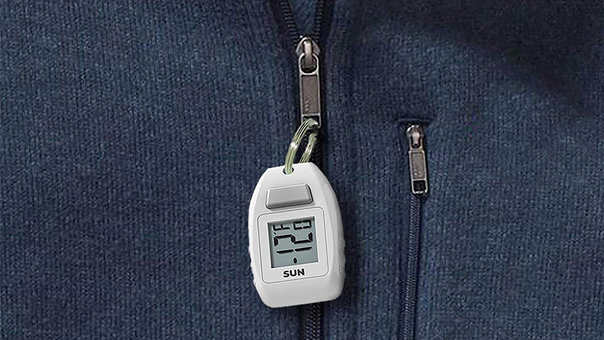 Zipogage - Compact Zipper Pull Digital Thermometer