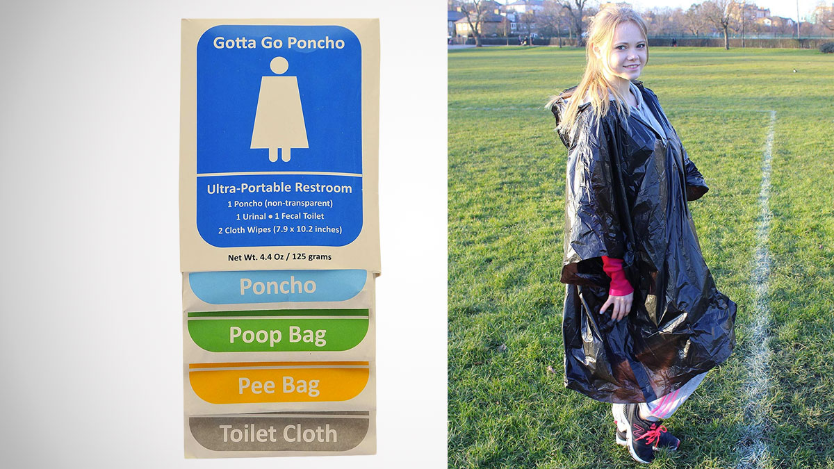 Gotta Go Poncho - Disposable Poncho Toilet