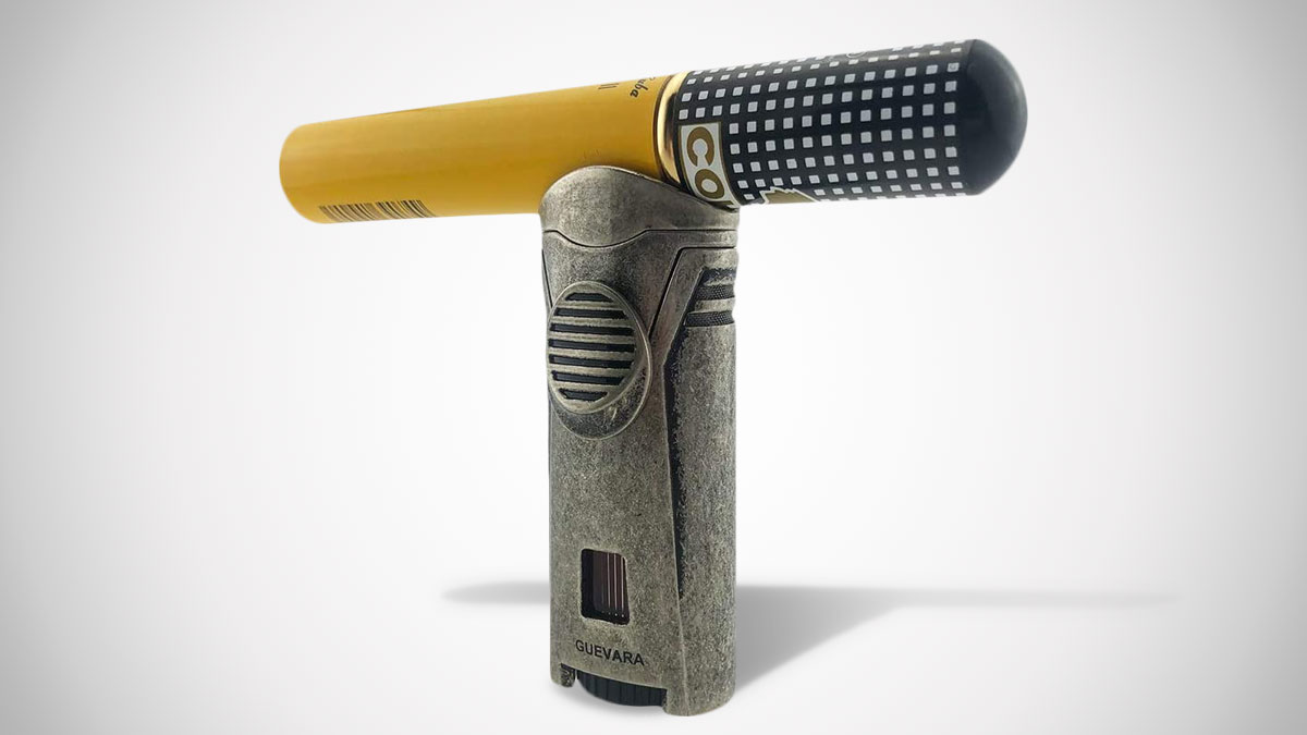 Guevara Cigar Lighter with Cigar Stand