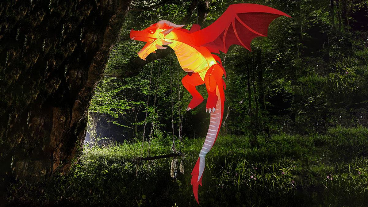 5' Inflatable Flying LED Dragon