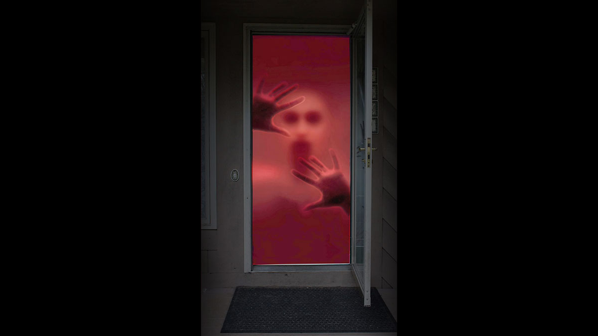 Bloody Zombie Door Decal