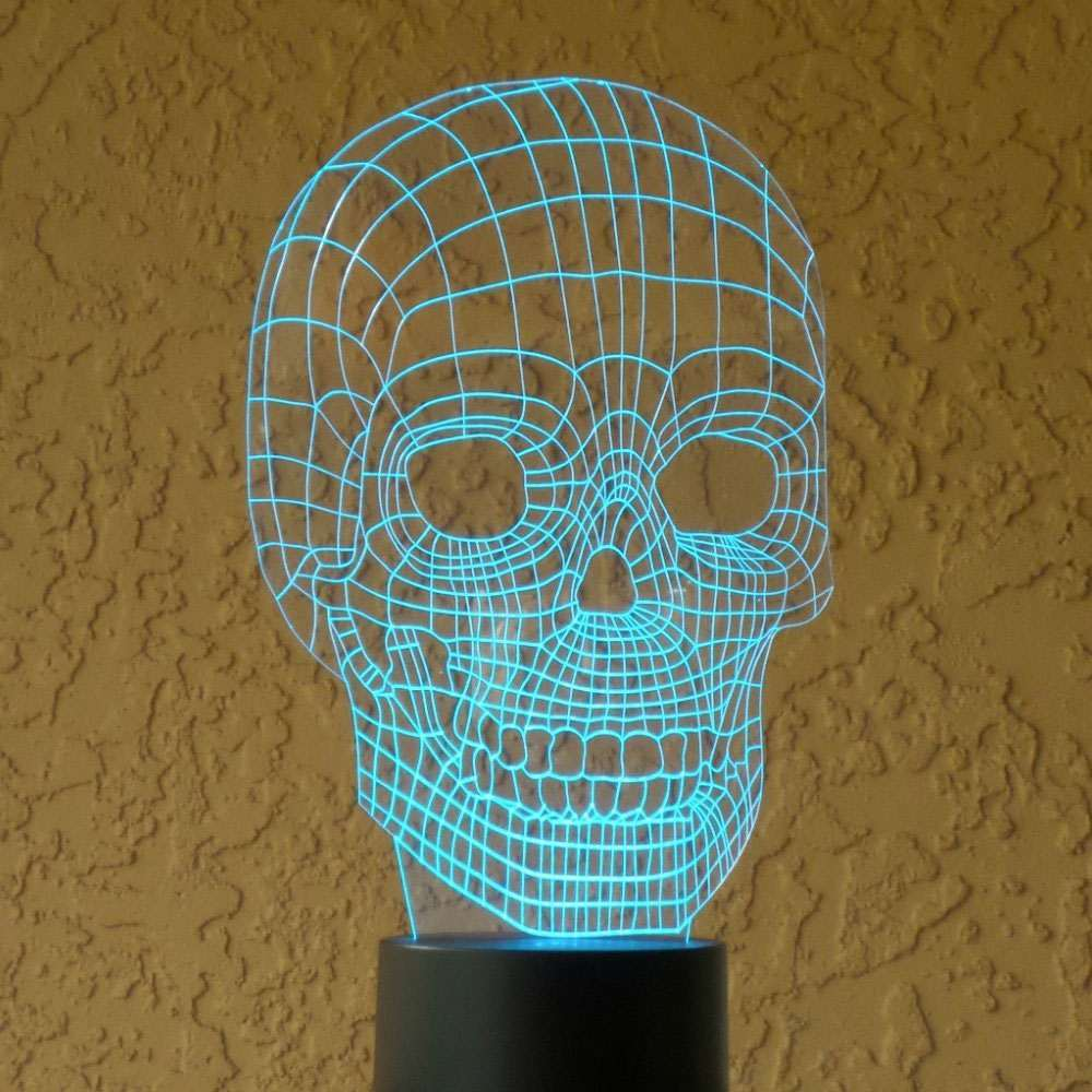optical 3d illusion skull light halloween gear illusions skulls dirty lamp dudeiwantthat japanese