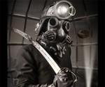 Defender Steampunk Gas Mask & Costume
