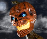 12' Inferno Pumpkin Skeleton with LCD Eyes