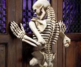 Ascending Evil Climbing Skeleton Wall Sculpture