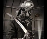 Defender Steampunk Gas Mask & Costume