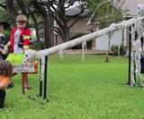 DIY Halloween Candy Slide