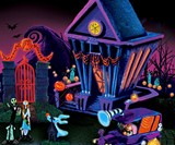 Nightmare Before Christmas Black Light Village