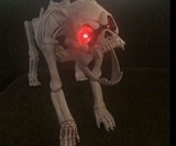 Skeleton Dog with LED Eyes