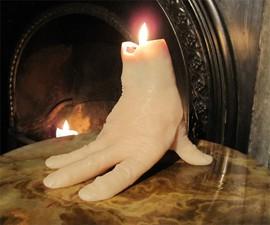 Bleeding Hand Candle