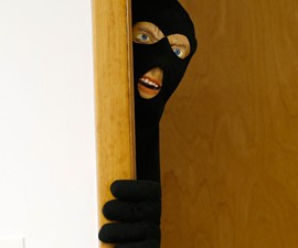 Scary Intruder Prank Door Prop