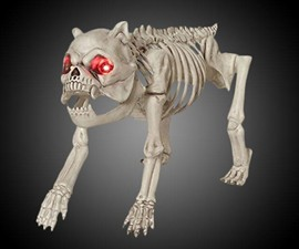 Skeleton Dog with LED Eyes